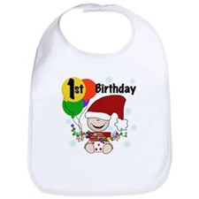 1st Holiday Birthday Bib