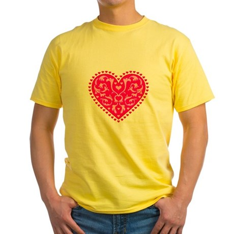Fancy Heart Yellow T-Shirt