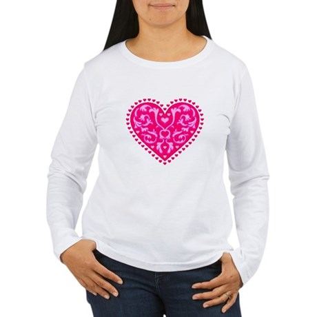 Fancy Heart Women's Long Sleeve T-Shirt