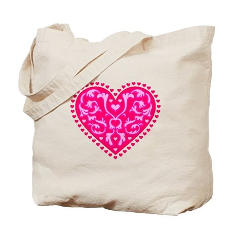 Fancy Heart Tote Bag