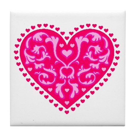 Fancy Heart Tile Coaster