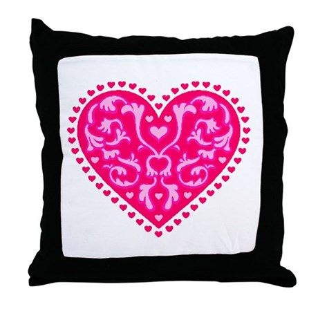 Fancy Heart Throw Pillow