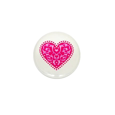Fancy Heart Mini Button