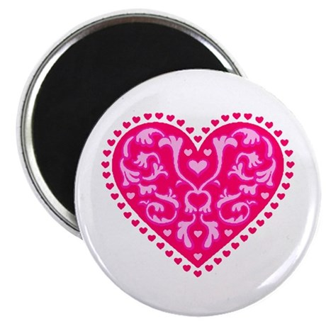 "Fancy Heart 2.25"" Magnet (100 pack)"