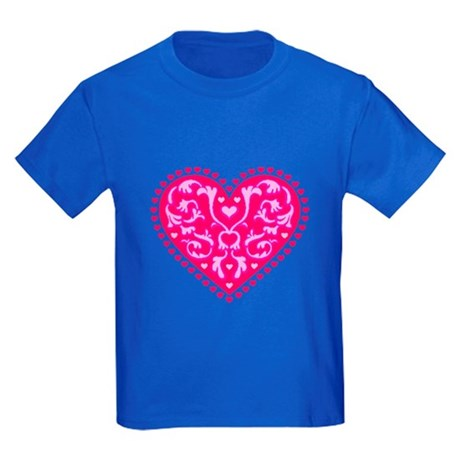 Fancy Heart Kids Dark T-Shirt