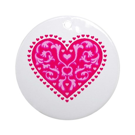 Fancy Heart Ornament (Round)