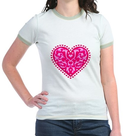 Fancy Heart Jr. Ringer T-Shirt
