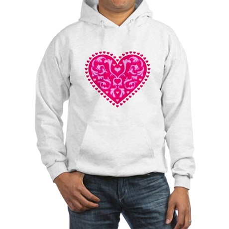 Fancy Heart Hooded Sweatshirt
