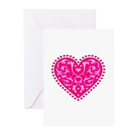 Fancy Heart Greeting Cards (Pk of 10)