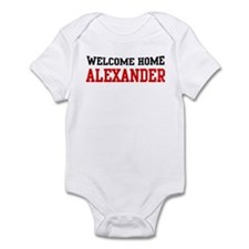 Welcome home ALEXANDER Infant Bodysuit