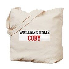 Welcome home COBY Tote Bag