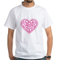 Fancy Heart White T-Shirt