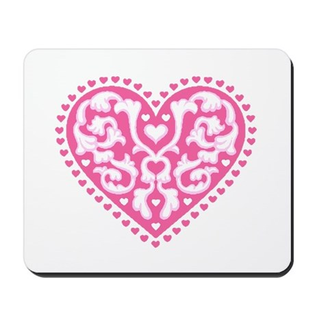 Fancy Heart Mousepad