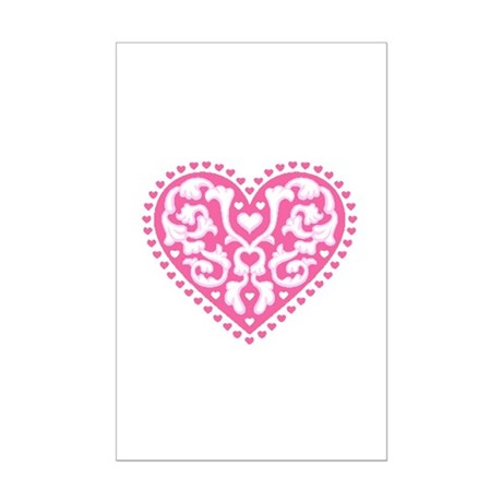 Fancy Heart Mini Poster Print