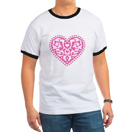 Fancy Heart Ringer T