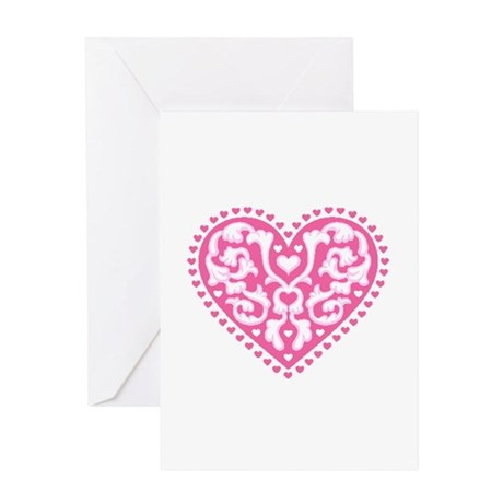 Fancy Heart Greeting Card