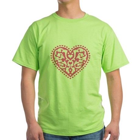 Fancy Heart Green T-Shirt