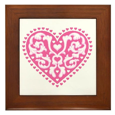 Fancy Heart Framed Tile