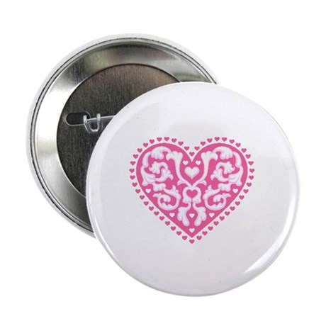 "Fancy Heart 2.25"" Button (100 pack)"