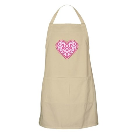 Fancy Heart BBQ Apron