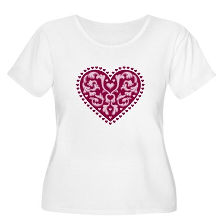Fancy Heart Women's Plus Size Scoop Neck T-Shirt