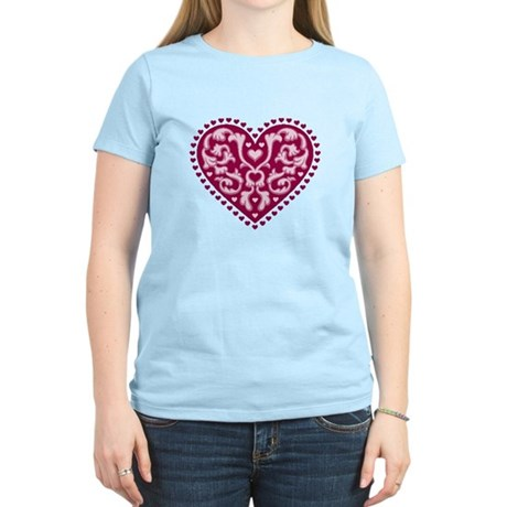 Fancy Heart Women's Light T-Shirt