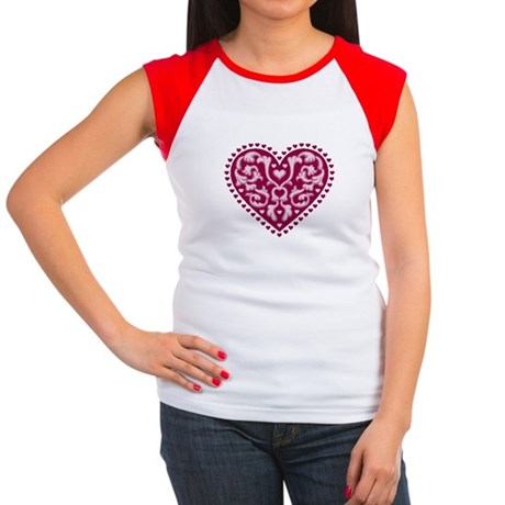 Fancy Heart Women's Cap Sleeve T-Shirt