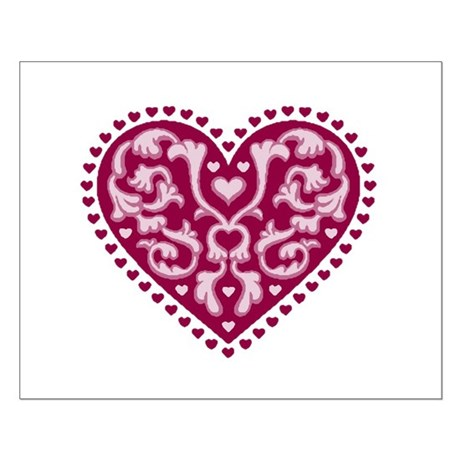 Fancy Heart Small Poster
