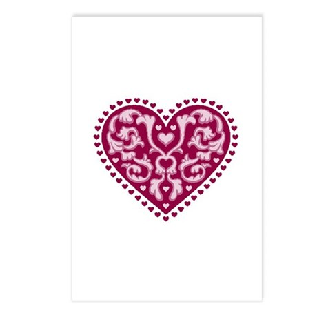 Fancy Heart Postcards (Package of 8)