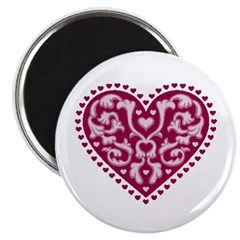 "Fancy Heart 2.25"" Magnet (10 pack)"