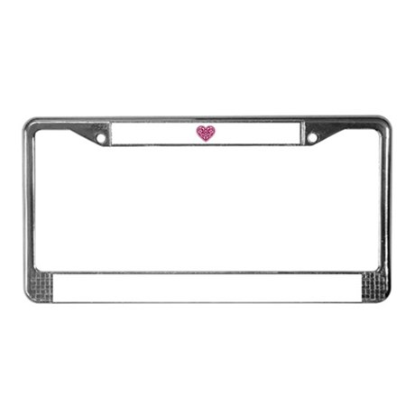 Fancy Heart License Plate Frame