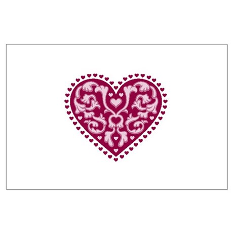 Fancy Heart Large Poster