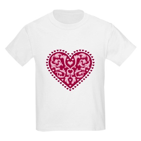 Fancy Heart Kids Light T-Shirt