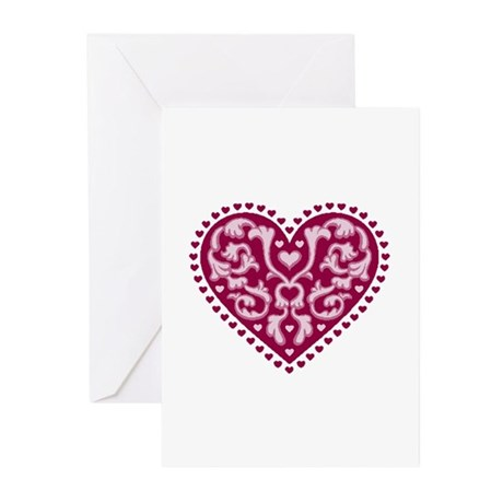 Fancy Heart Greeting Cards (Pk of 20)