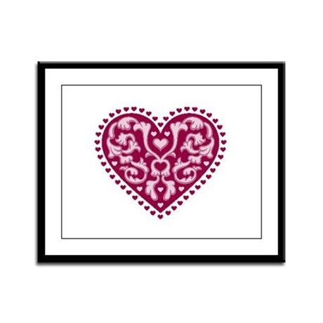 Fancy Heart Framed Panel Print