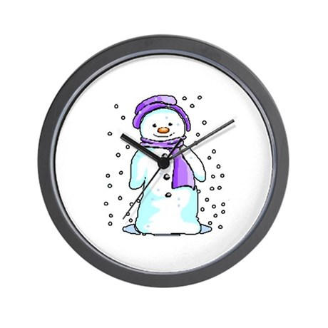 Happy Snowman Wall Clock