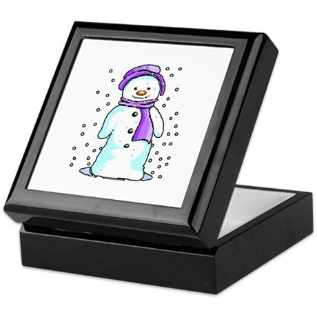 Happy Snowman Keepsake Box