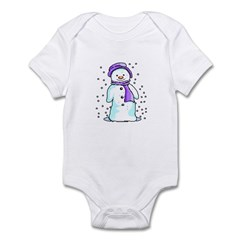 Happy Snowman Infant Bodysuit
