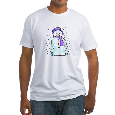 Happy Snowman Fitted T-Shirt