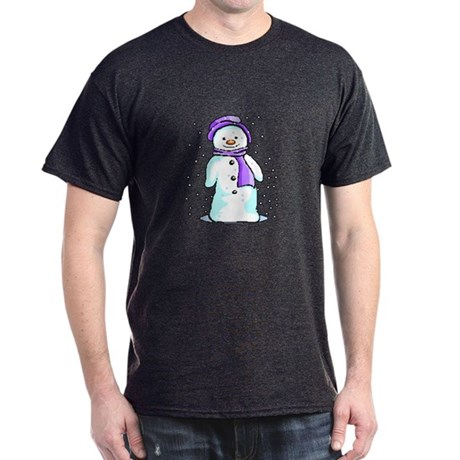 Happy Snowman Dark T-Shirt