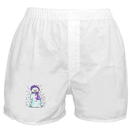 Happy Snowman Boxer Shorts