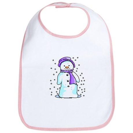 Happy Snowman Bib