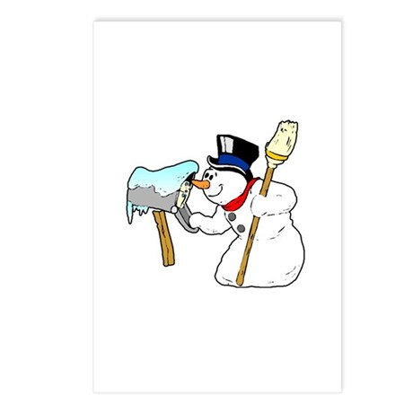 Mailbox Snowman Postcards (Package of 8)