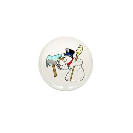 Mailbox Snowman Mini Button (10 pack)