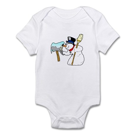 Mailbox Snowman Infant Bodysuit