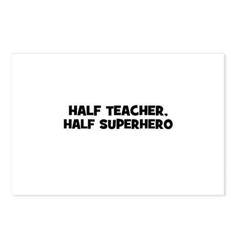Half Teacher, Half Superhero Postcards (Package of