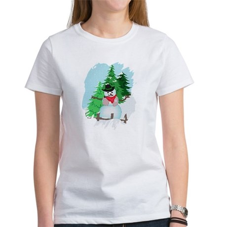 Forest Snowman Women's T-Shirt