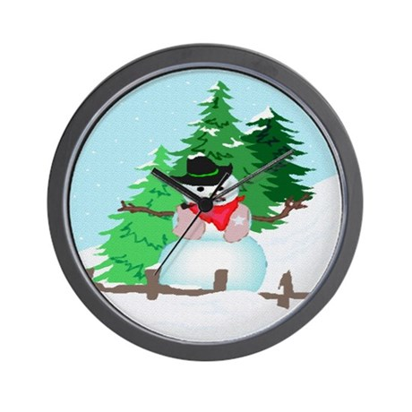 Forest Snowman Wall Clock