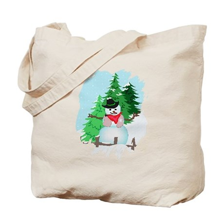 Forest Snowman Tote Bag