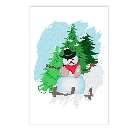 Forest Snowman Postcards (Package of 8)